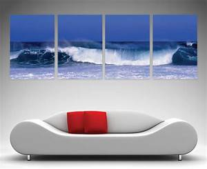 Waves 4 Panel - Canvas Prints Australia