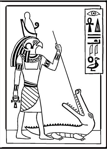 egyptian drawing coloring page supercoloringcom