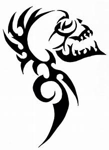 Tribal Skull Stencil | www.pixshark.com - Images Galleries ...