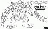 Invizimals Colorear Dibujos Jungla Yeti Unicornio Cortar Cyclops Pintar Imprimir Dibujo Colorea sketch template