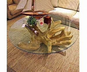 Tree stump coffee table with glass top outdoors pinterest for Tree stump coffee table with glass top