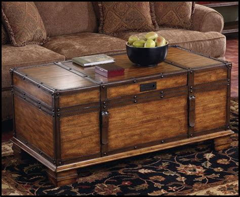 Furniture: Chest Coffee Table For Inspiring Antique Living Furniture Ideas ? Whereishemsworth.com