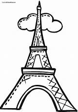 Eiffel Tower Coloring Drawing Pages Towers Easy Cartoon Draw Torre Paris Simple Twin Step Para Clipart Clip Colorear Dibujo Colouring sketch template