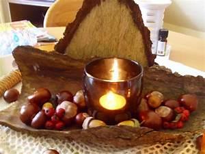 Herbst Tischdeko Natur : herbst tischdeko aus naturmaterialien selber machen bild 3 ~ Bigdaddyawards.com Haus und Dekorationen