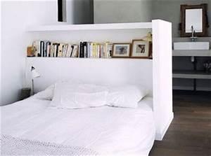 Tete De Lit Rangement : fabrication d une t te de lit avec rangement ~ Teatrodelosmanantiales.com Idées de Décoration