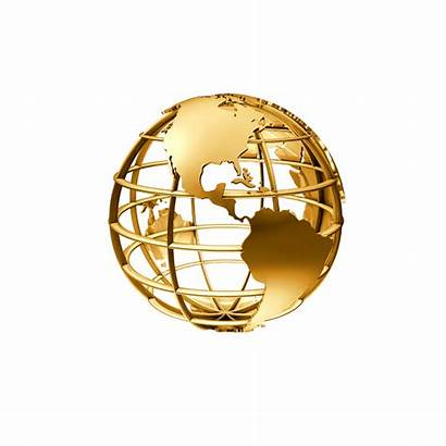 Globe Golden Transparent Clipart Globes Clip Earth