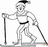 Coloring Pages Skiing Man Ski Doo Sport Lift Winter Printable Template Supercoloring sketch template