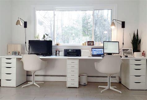 Ikea Hacked Faux Built-ins Double Desk. Love The Sun