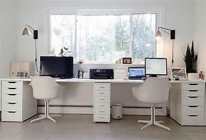 Ikea Schreibtisch Hack : ikea hacked faux built ins double desk love the sun ~ Watch28wear.com Haus und Dekorationen