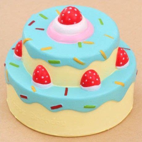 vlampo squishy torta  compleanno glassa blu kawaii