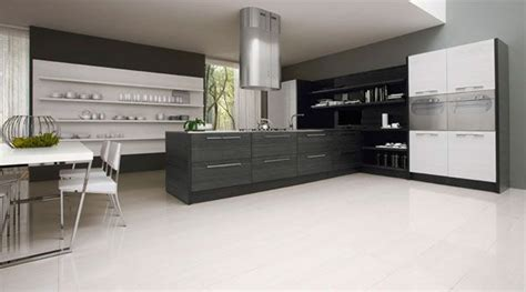 modern black and white kitchen designs dise 241 o de cocina minimalista en blanco y negro por futura 9754