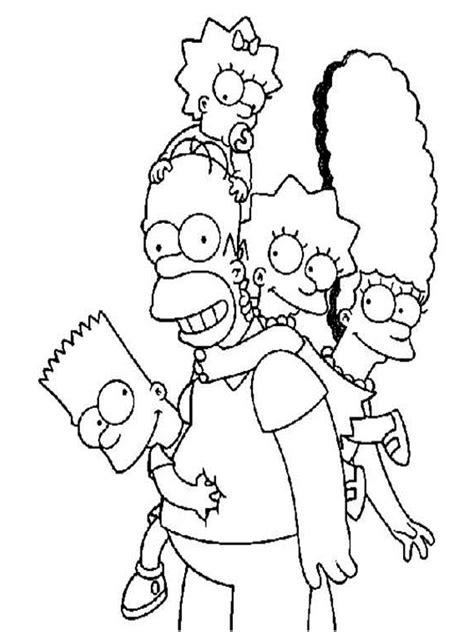 disegni da colorare dei simpson mamma  casalinga