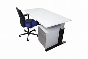 Schreibtisch Weiß Schwarz : bene schreibtisch weiss schwarzes c gestell unbenutzt ~ Buech-reservation.com Haus und Dekorationen