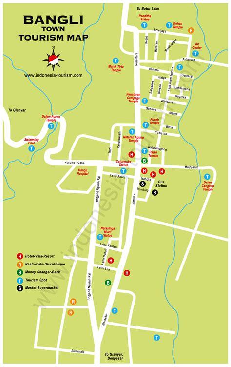 bangli city bali map bali island indonesia tourism maps