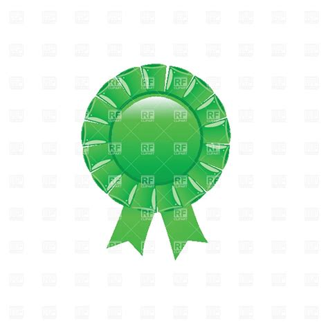 green rosette blank template vector image  objects