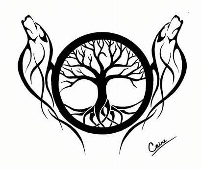 Tattoo Stencils Cliparts Money Celtic Tree Wolf