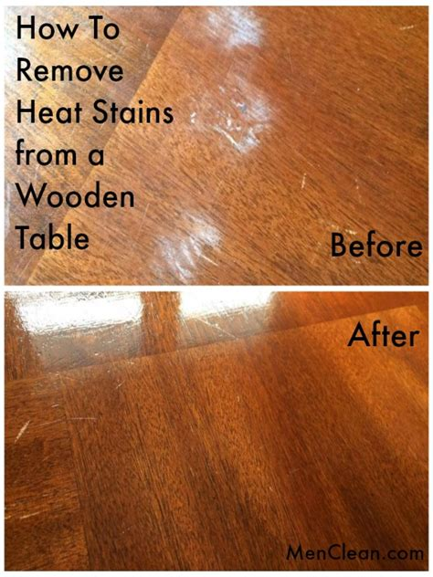 steam stain on wood how to remove heat stains from a wooden table menclean com
