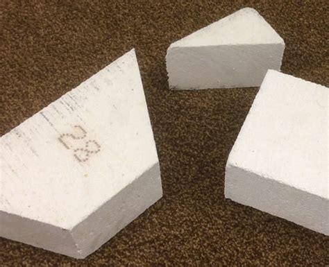 cut insulating fire bricks