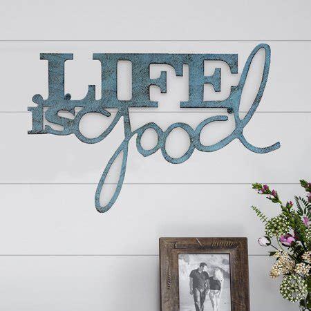 metal cutout life  good decorative wall sign  word