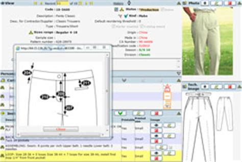 olotech apparel web pdm plm garment specification software