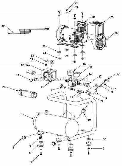 Parts Campbell Hausfeld Compressor Gallon Oil Diagram