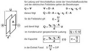 Kondensator Kapazität Berechnen : der kondensator und der kapazit tsbegriff ~ Themetempest.com Abrechnung