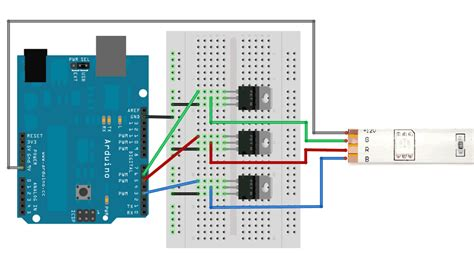 Mosfet Rgb Led Strips With Arduino Stack Exchange