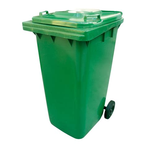 poubelle verte à roulettes 240l réf 147720