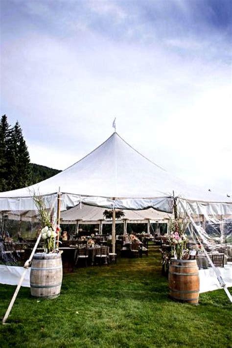 creative wedding tent decor ideas