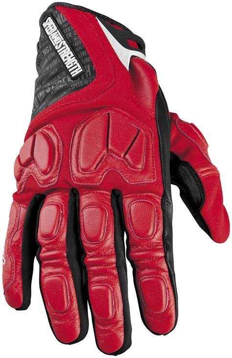 speed strength tough  nails motorcycle gloves red