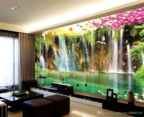 custom  size scenery wallpaper tv wall mural