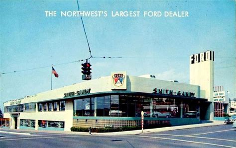 Smith Gandy Ford. Seattle   1956   Vintage car dealership