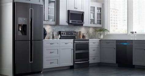 samsung black stainless steel appliances  reviews