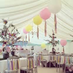 pastel rainbow ribbon chair backs  bubblegum balloons