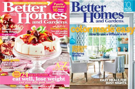 free better homes gardens magazine subscription free