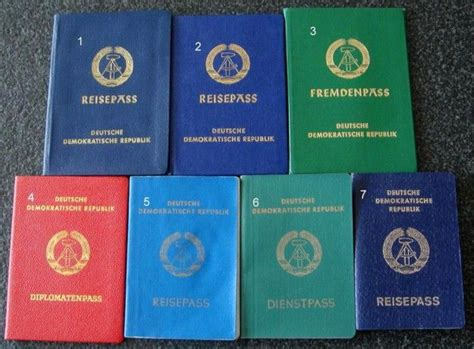 Ddr (gdr) Passport Types