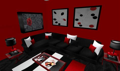 Gray And Red Living Room Ideas Visi Build Modern Black And