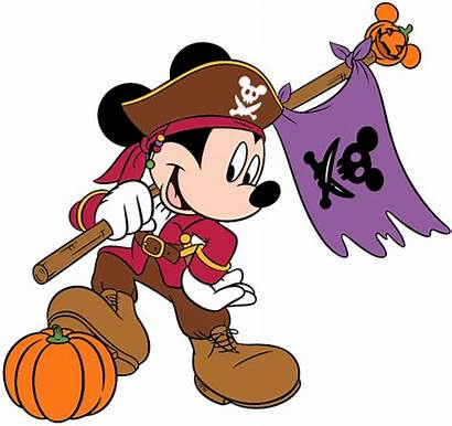 Mickey Pirate Halloween Mouse Clipart Clip Disney