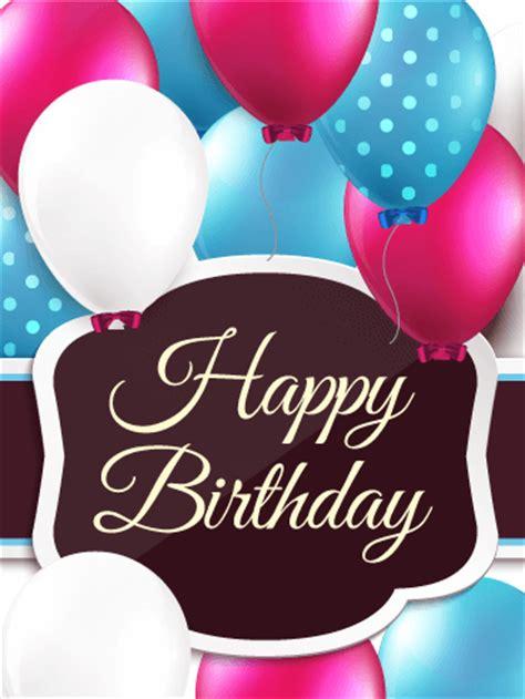polkadots birthday balloon card birthday greeting