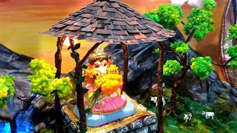 Garden Decoration For Ganpati by Ganpati Bappa Decoration Ideas