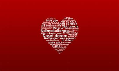 Languages Heart Words Wallpapers