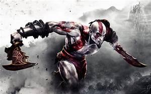Kratos fighting in God of War 3 HD desktop wallpaper ...
