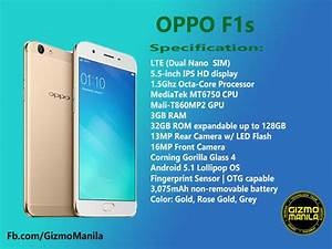 Oppo F1s Specs  Price And Availability