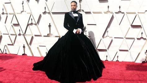 Oscars Pose Star Billy Porter Wears Christian Siriano