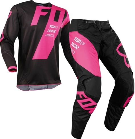 motocross gear sale uk 2018 fox 180 mastar motocross gear black pink 1stmx co uk