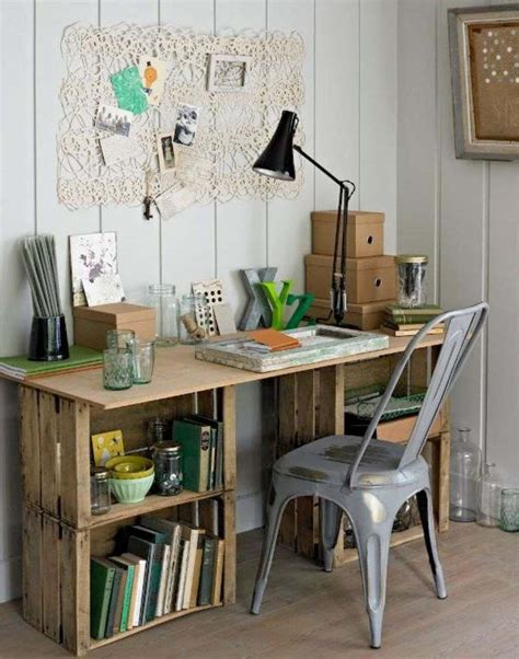 idee deco bureau travail meuble en palette 34 idées fraîches de diy déco naturelle