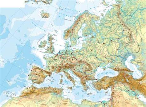 karte fluesse und gebirge  europa