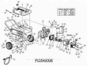 Powermate Formerly Coleman Pl0545008 Parts Diagram For