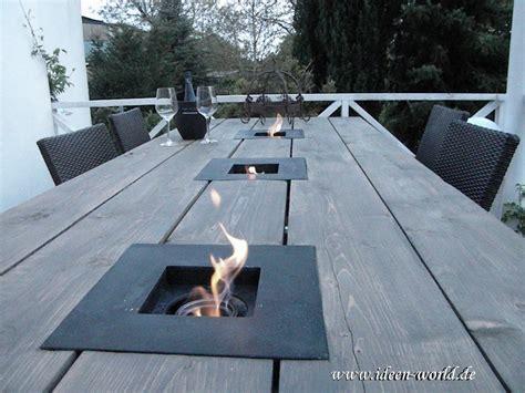 terrasse tisch mit feuerstelle garten tisch mit feuerstellen tel 015734256781 tische aus holz garten m 246 bel gartentisch