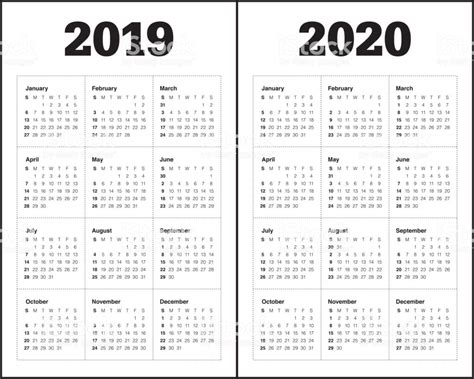 year calendar vector design template stock illustration